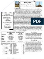 St. Joseph's May 20, 2012 Bulletin
