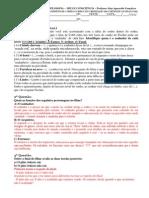 AVALIAÇÃO BIMESTRAL DE FILOSOFIA