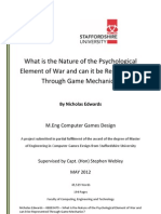 What is the Nature of the Psychological Element of War and can it be Represented Through Game Mechanics?