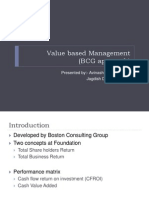 Value Based Management BCG Approach