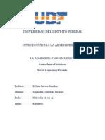 La Admon en Mexico Gobierno y Privado