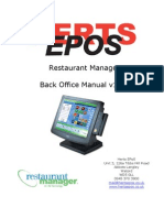 Restaurant Manager Back Office Manual v1.01