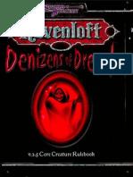 [D&D 3.5e - Eng] Raven Loft] Denizens of Dread