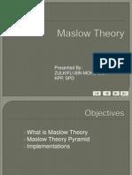 3. Maslow Theory