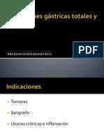 Resecciones gástricas totales y parciales