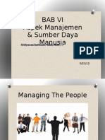 BAB 6 Aspek Manajemen Sumber Daya Manusia