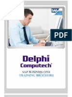 SAP B1 Training Brochure to Colleges
