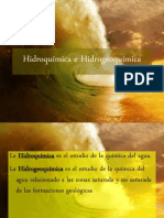 Hidroquímica e hidrogeoquímica