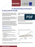 Intense Climate-Related Natural Disasters in Asia and the Pacific