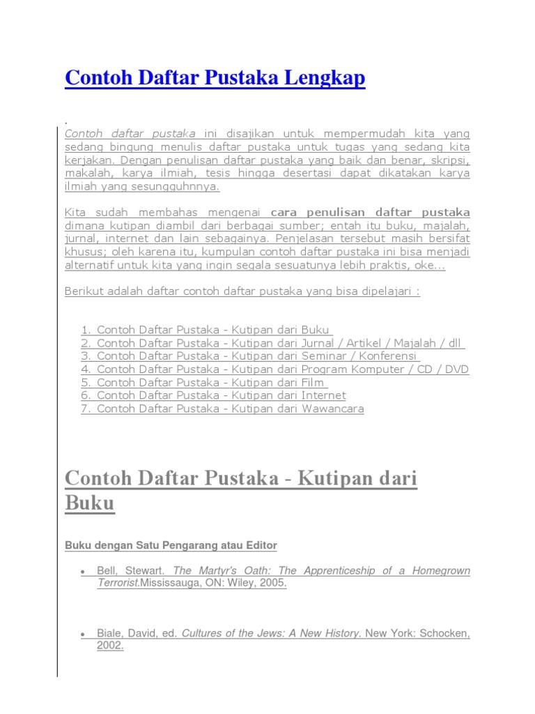 Contoh Daftar Pustaka Jurnal Dari Internet Contoh Win Download