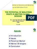 The Potential of Malaysian Fruits in Meeting Global Demand