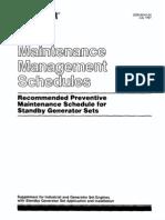 Maintenance Management Schedules