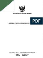 Perka Bkn No 12 Tahun 2011 Ttg Pedoman Pelaksanaan Analisis Jabatan