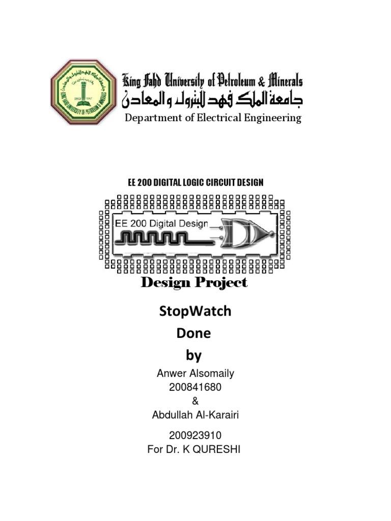 Outstanding Stopwatch Using Logic Gates Logic Gate Electrical Circuits Wiring Database Ittabxeroyuccorg