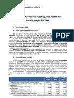 Raport Finante Publice Locale 2010 Suceava