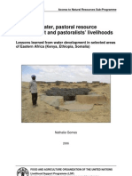 Access to Water, Pastoral Resource Management and Pastrolist Livelihoods