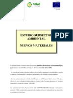 Estudio Subsector Ambiental Nuevos Materiales