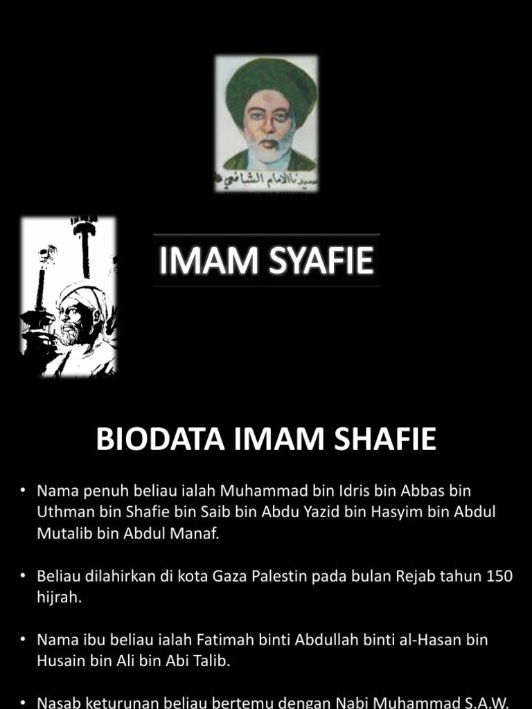 Biodata Imam Syafie