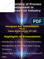 The Chemistry of Process Development in Pharmaceutical Industry 1