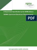 NGMN Optimised Backhaul Requirements