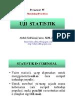 Uji Statistik MR- 21 Mei 2012