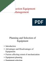 Project Equipment Management