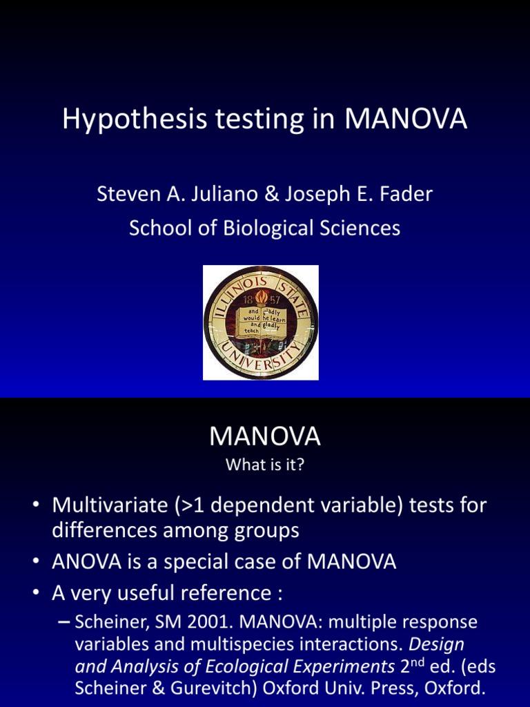 5 MANOVA Presentation Stats | Analysis Of Variance