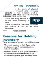 FM Inventory Management Ppt