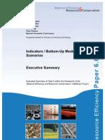 MaRess AP6 6 Scenarios and Indicators