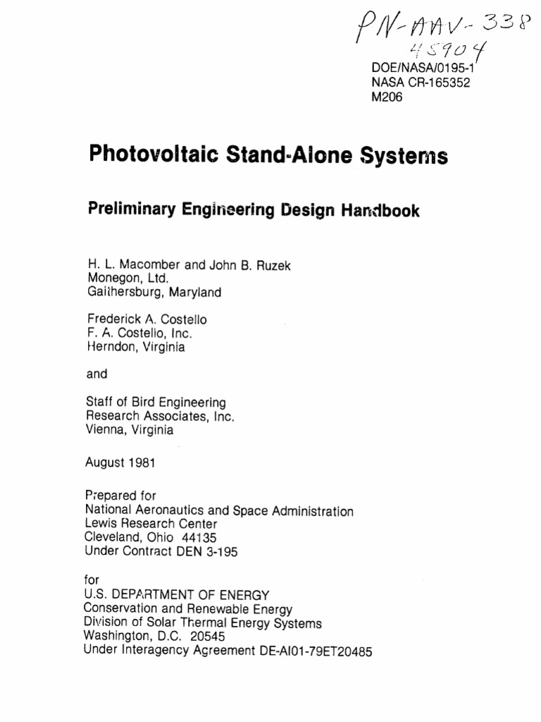 Stand Alone Pv Systems | Photovoltaic System | Photovoltaics
