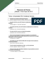 Resumen prensa CEU-UCH 19-05-2012