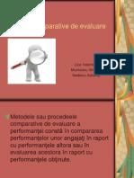 Metode Comparative de Evaluare