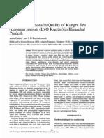 Seasonal Variations in Kangra Tea Quality