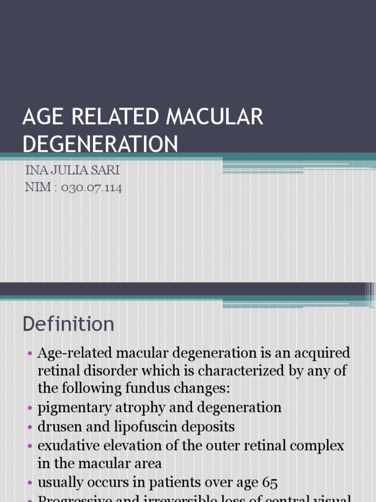 age related macular degeneration | eye | ophthalmology