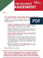 Tract Législatives PS Philippe Noguès