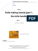 Knife Making Tutorial Part 1 The