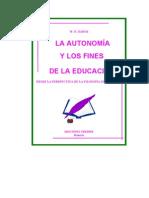 La Autonomia y Los Fines de La Educacion