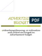 6 Advertisement Budget