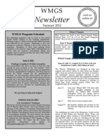 Summer 2012 WMGS Newsletter