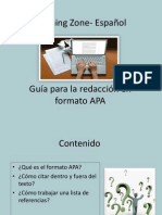 Guía para la redacción formato APA