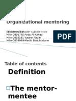 Organizational Mentoring