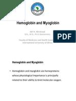 Hemoglobin and Myoglobin 2010