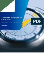 Checklist de Divulgatpo Dos CPCs 2010