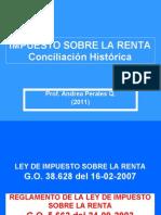 2011 Impuesto Sobre La Renta Conciliacion Historica Prof Andrea Perales