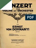 Dohnanyi Violin Concerto