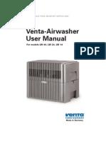 Venta Airwasher User Manual (LW 44, LW 24, LW 14)