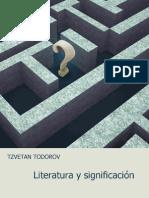 Literatura y Significacion -Tzvetan Todorov