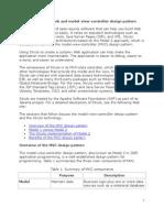struts framework and model