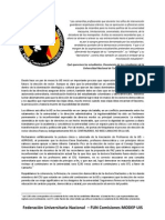 COMUNICADO FUN Comisiones MODEP UIS