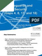 5MCA-Security-22Jun2011 - Safety and Security (GAP 4,8,17 and 18)-Jun 21, 2011.
